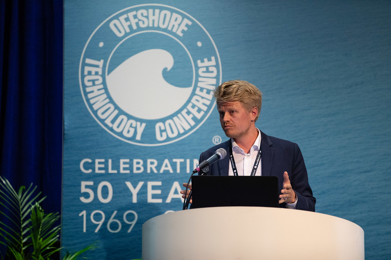 Lars Bay speaks during Technical Sessions: Next Generation Deepwater Development Concepts