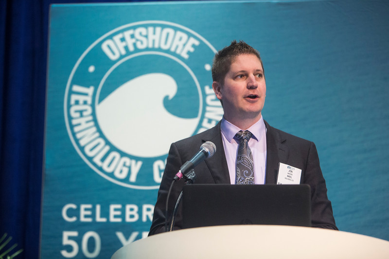 John Weers presents during Technical Sessions: Advances in Offshore Marine and Hydrokinetic Energy
