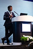 Phaneendra Kondapi speaks during Morning Panel and Technical Sessions: Active Arena: Flow Assurance Engineering and Project Learning