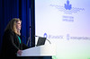 Kendra MacDonald speaks during Around the World Series | Canada