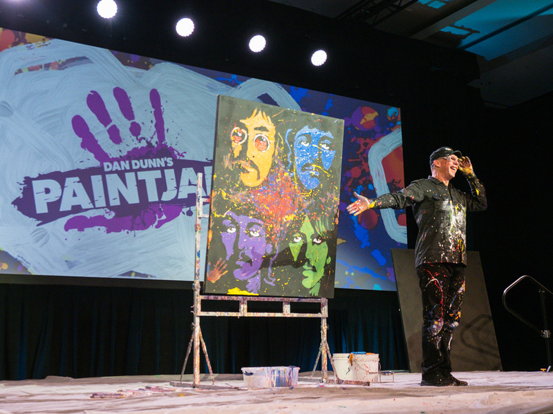 Artist Dan Dunn during Gala Dinner Entertainment