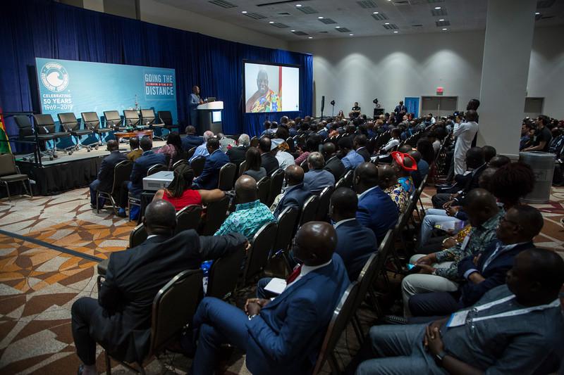 Dr. Barfour Adjei-Barwuah presents during Around the World Series | Ghana