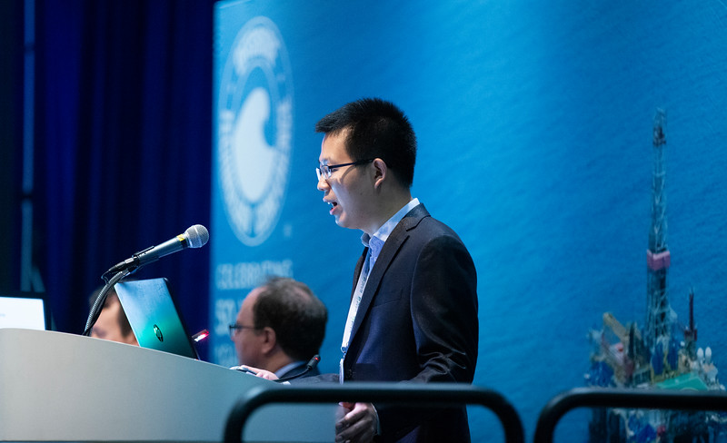 Xiaoming Ye speaks during Technical Sessions: Reservoir Characterization and Monitoring