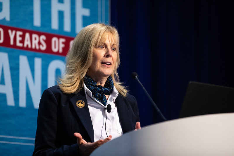 Cindy Yeilding speaks during Morning Panel and Technical Session: Coming to Americas