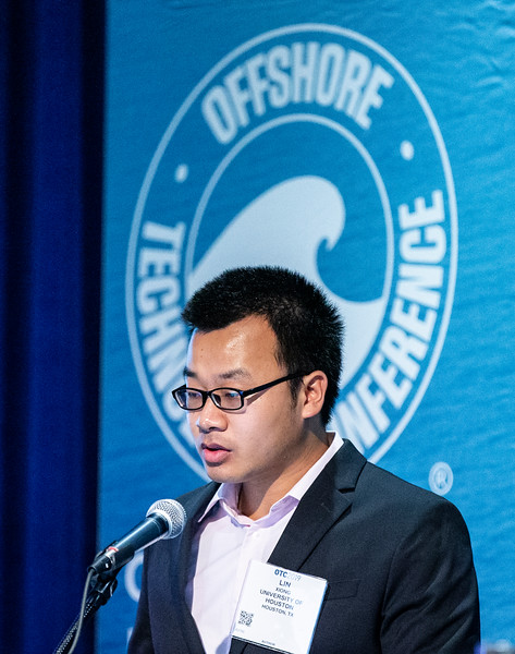 Chen Yuan speaks during Technical Sessions: Advances in Gas Hydrate Production Technology