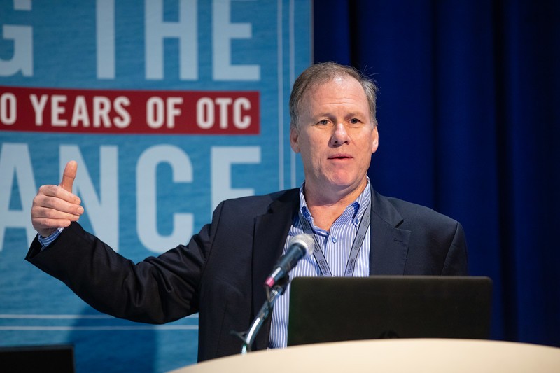 Peter Moles speaks during Technical Sessions: Topside Innovative Processing and Design