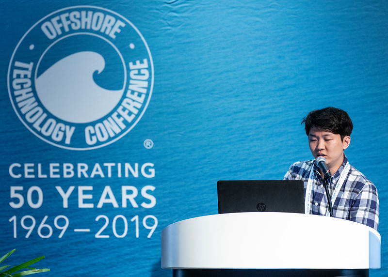 Yongjune Sohn speaks during Technical Sessions: Advances in Gas Hydrate Production Technology