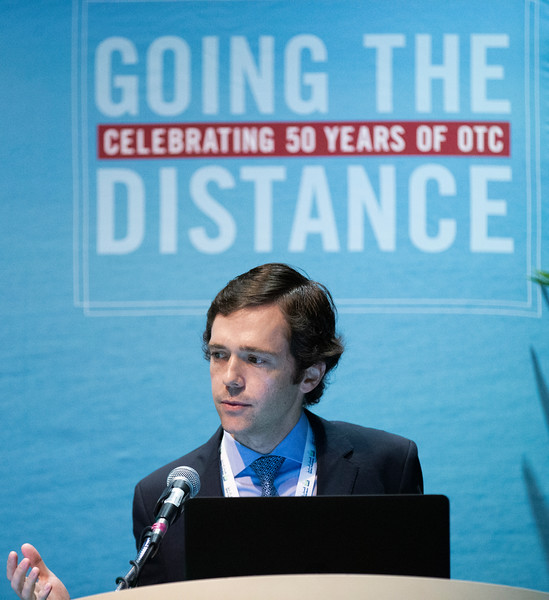 Jamie Moreu speaks during Technical Sessions: Advances in Offshore Floating Wind Turbine Technology