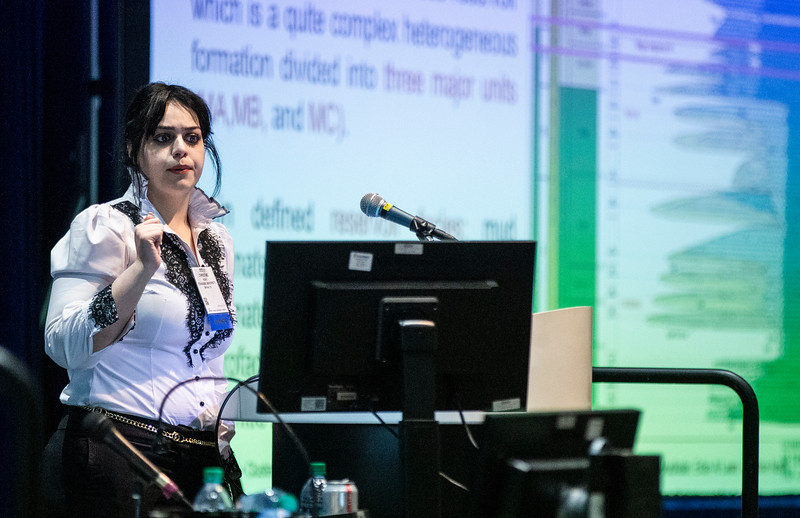 Christine Noshi speaks during Technical Sessions: Reservoir Characterization and Monitoring