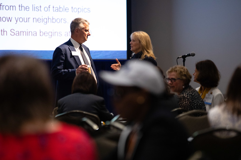 Speakers and attendees during Topical Breakfast: Women in the Industry Sharing Experiences (WISE): Diversity Drives Innovation: Start the Conversation