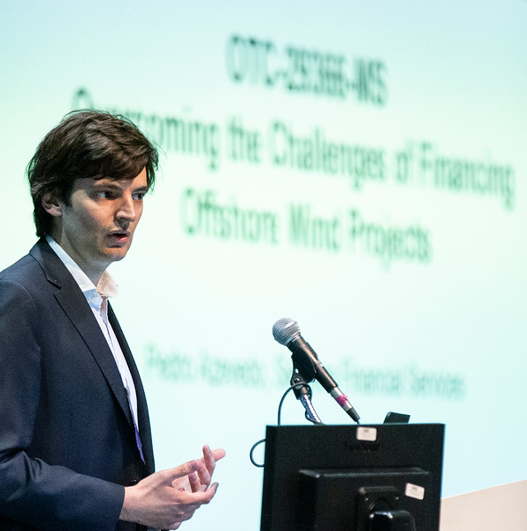 Pedro Azevedo speaks during Technical Sessions: Advances in Offshore Floating Wind Turbine Technology