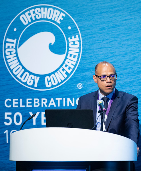 Jean-Philippe Dimbour speaks during Technical Sessions: FLNG Technology and Offshore Gas Monetization