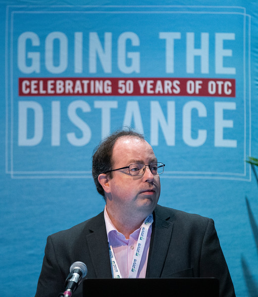 Dr. Paul McEvoy speaks during Technical Sessions: Advances in Offshore Floating Wind Turbine Technology