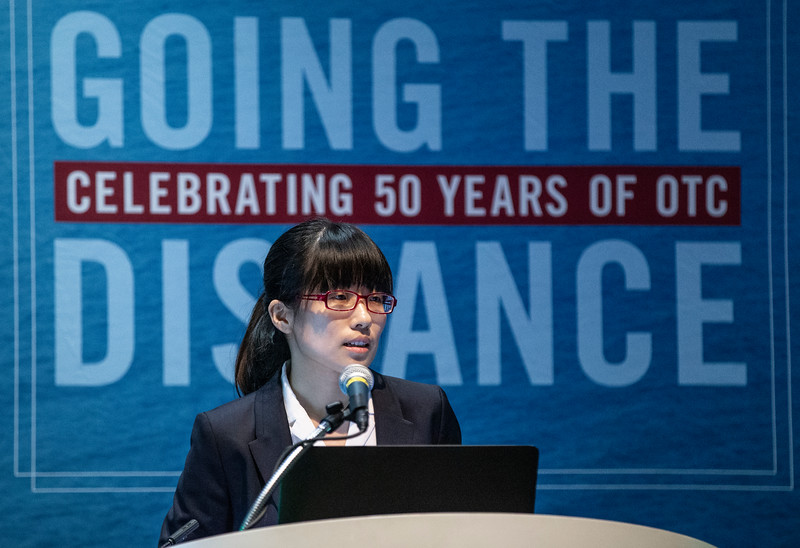 Yifan He speaks during Technical Sessions: Advances in Offshore Floating Wind Turbine Technology