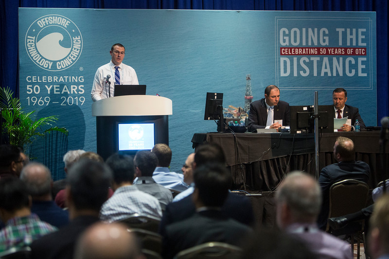Michael Slavens presents during Morning Panel and Technical Session: Innovation and Technology for Cost Effective Subsea Processing
