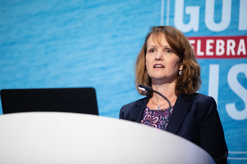 Liz Schwarze speaks during Morning Panel and Technical Session: Coming to Americas
