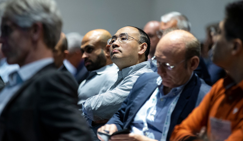 Attendees look on during Technical Sessions: Advances in Offshore Floating Wind Turbine Technology