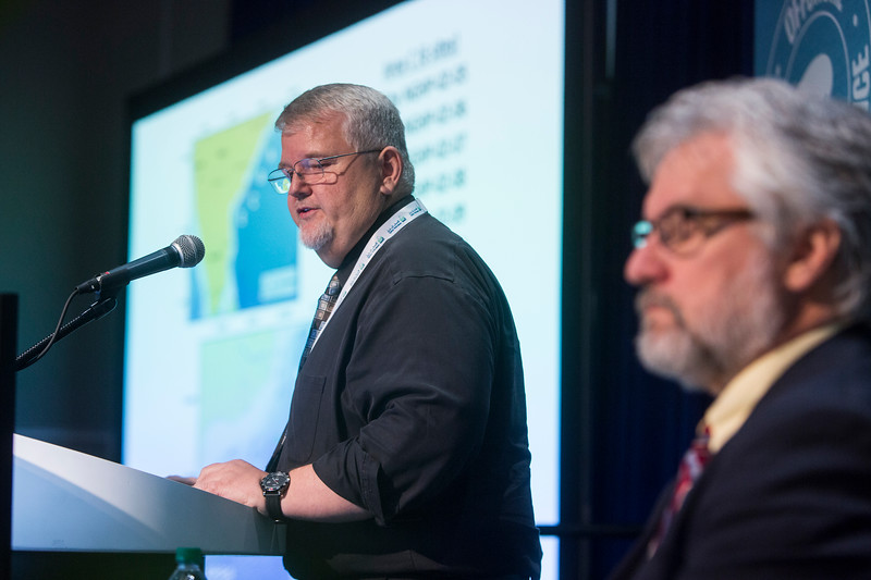 Timothy S. Collett presents during Technical Sessions: New Developments in Gas Hydrate Production