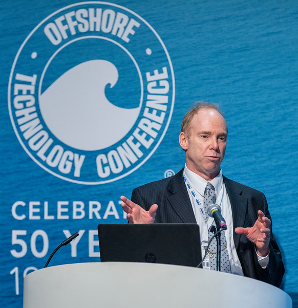 Shane Tierling speaks during Technical Sessions: FLNG Technology and Offshore Gas Monetization