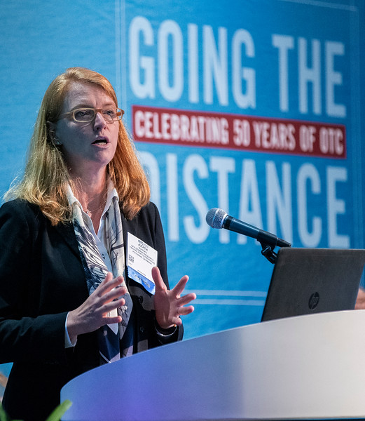Judith Schicks speaks during Technical Sessions: Advances in Gas Hydrate Production Technology