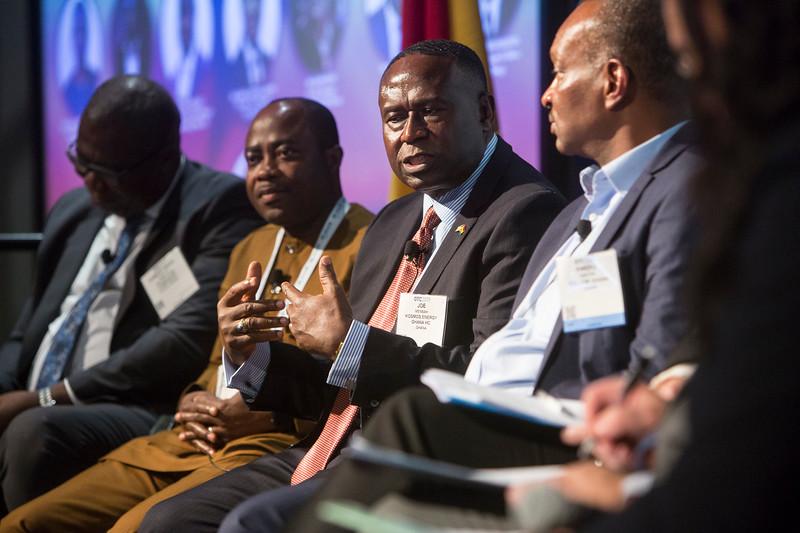Joe Mensah speaks during Around the World Series | Ghana
