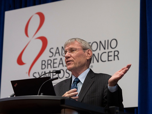 Rowan T. Chlebowski, MD, PhD, speaks during Friday morning Press Conference