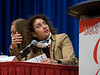 Virgnia G. Kaklamani, MD speaks during Friday morning Press Conference