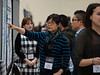 Attendees chat during Poster Session