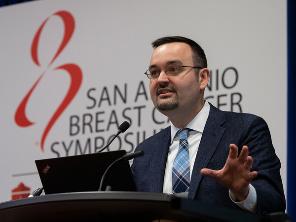 Milan Radovich, PhD, speaks during Friday morning Press Conference