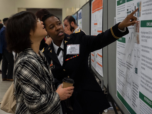 Attendees during Saturday Poster Sessions