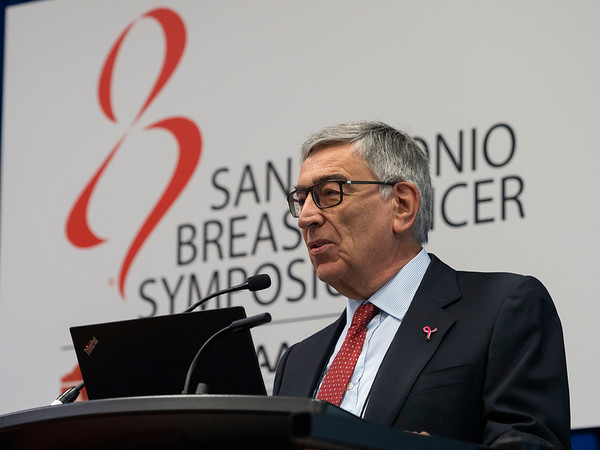 Luca Gianni, MD, discusses Combining Atezolizumab with Neoadjuvant Chemotherapy Does Not Improve Pathologic Complete Response Rates for Patients with Triple-Negative Breast Cancer during the Thursday morning Press Conference