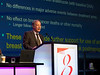 Jack Cuzick, MD, discusses Ten year results of the international breast cancer intervention study II during GENERAL SESSION 4