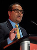 Aditya Bardia, MD, MPH speaks during Developing Novel Therapeutics in the Metastatic Setting sessioin