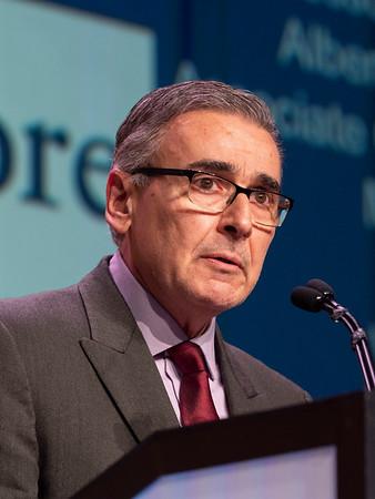 Joseph Sparano, MD speaks during the WILLIAM L. MCGUIRE MEMORIAL LECTURE
