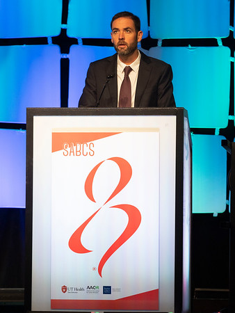 J Gavilá speaks during the SUSAN G. KOMEN® BRINKER AWARD FOR SCIENTIFIC DISTINCTION IN BASIC SCIENCE