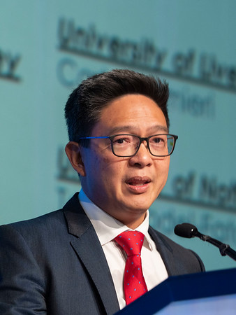 E Lim speaks during the SUSAN G. KOMEN® BRINKER AWARD FOR SCIENTIFIC DISTINCTION IN BASIC SCIENCE