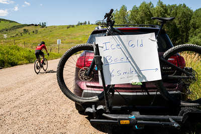 6.5 miles to go in the 2019 Steamboat Gravel cycling race held near Steamboat Springs, Colorado.