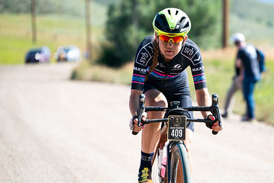 A rider participates in the 2019 Steamboat Gravel cycling race.
