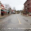 Downtown Dunsmuir, Calif., is nearly deserted on a cold, February morning.