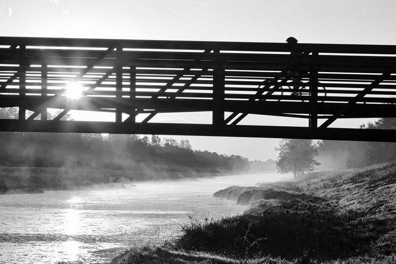 Sunrise Cyclist BW