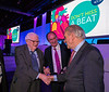 Douglas L. Mann , MD recieves the award from Valentin Fuster and Eugene Braunwald during Best of JACC Journals and  Eugene Braunwald Lecture