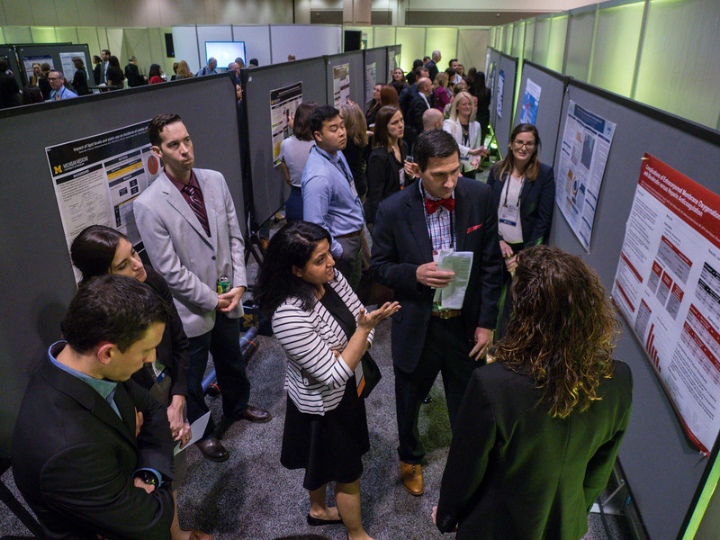 Attendees during Pharmacists Poster Session