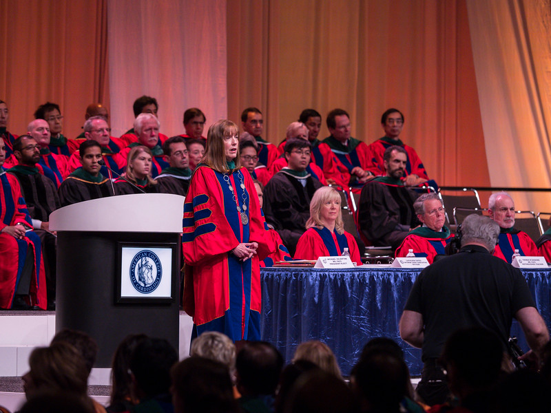 ACC President Walsh during Convocation
