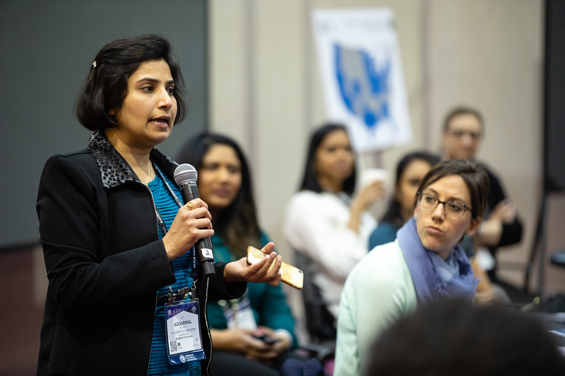 Speakers and attendees during WIC Lounge Session: Inclusion in the CV Workforce: Everyone in Responsible