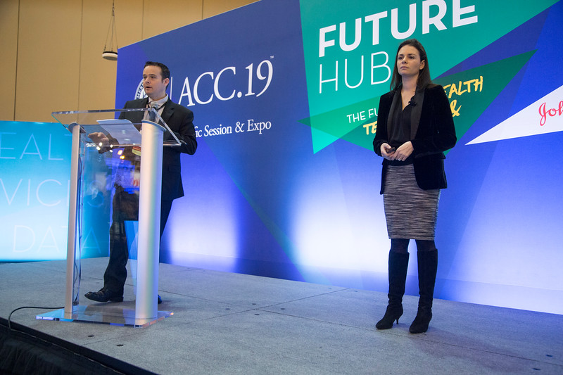 Andrew Freeman, MD, FACC, speaks during Future Hub Innovation Challenge-Artificial Intelligence