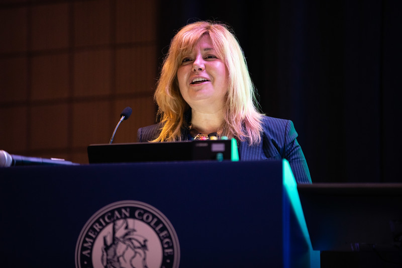 Regina Druz, MD, FACC, speaks during Innovation Bootcamp Session