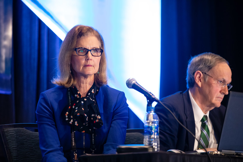 Moderators Donna Arnett and Roger Scott Blumenthal  during Prevention Guideline Session