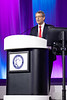 Michael Reardon speaks during Late-Breaking Clinical Trials (LBCT) II