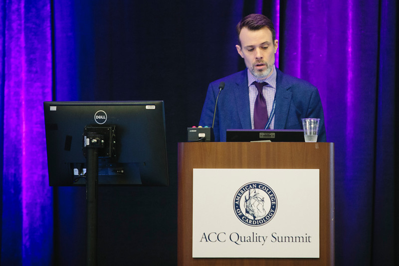 David McManus during the ACC Quality Summit