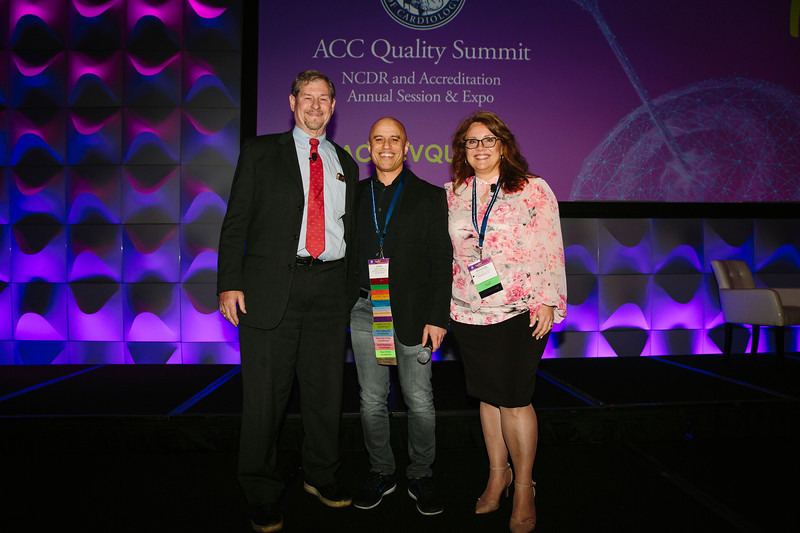 Ralph Brindis, Zubin Damania, and Kathleen Hewitt during the ACC Quality Summit